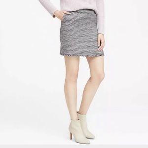 🎉HOST PICK🎉 Banana Republic Fray Hem Tweed Skirt